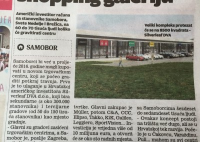 Shopping Galleria Samobor Novine